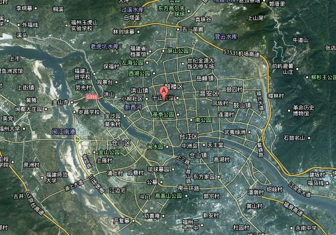 Fuzhou Map