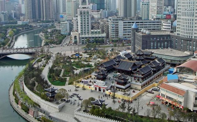 Downtown Guiyang, Guizhou, China