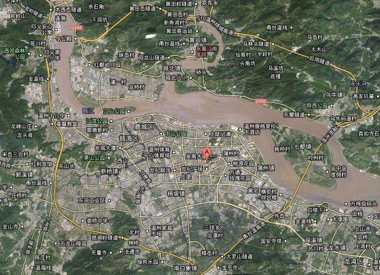 Wenzhou Map